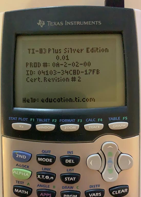 """Proto TI-84 Plus SE """"PTR 2093"""""""