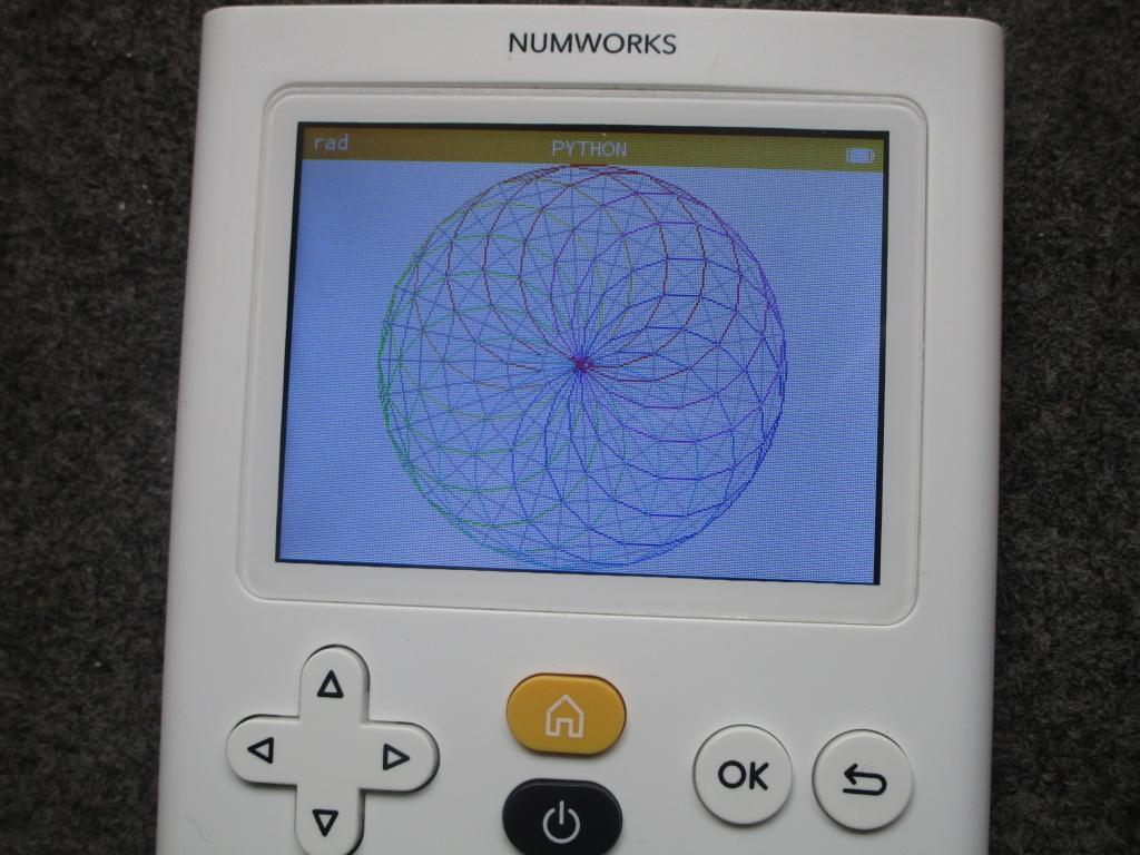 NumWorks + rosace rhombique
