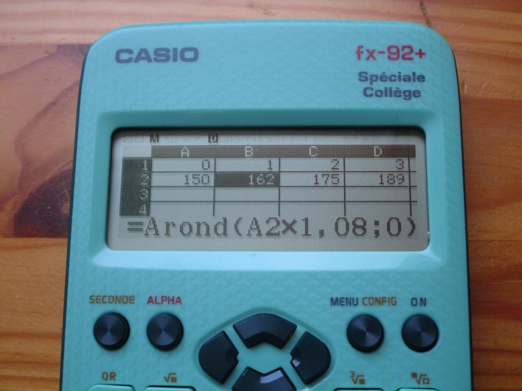 fx-92+SC: sujet 0 Math Techno 1è
