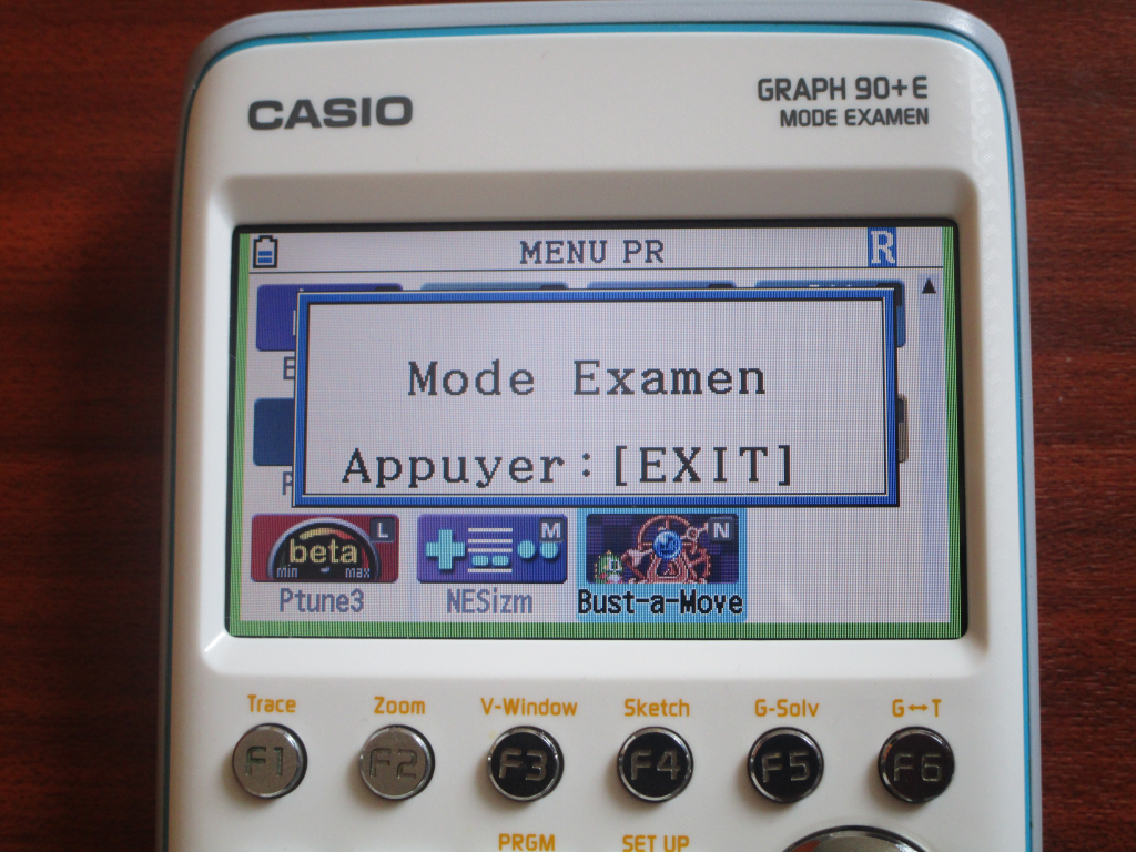 Graph 90+E + mode examen