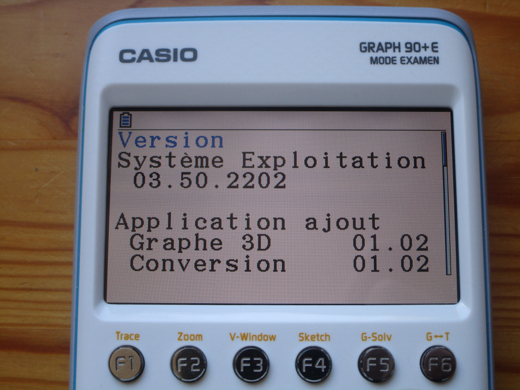 Casio Graph 90+E + OS 3.50