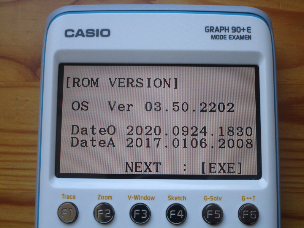 Casio Graph 90+E + OS 3.50