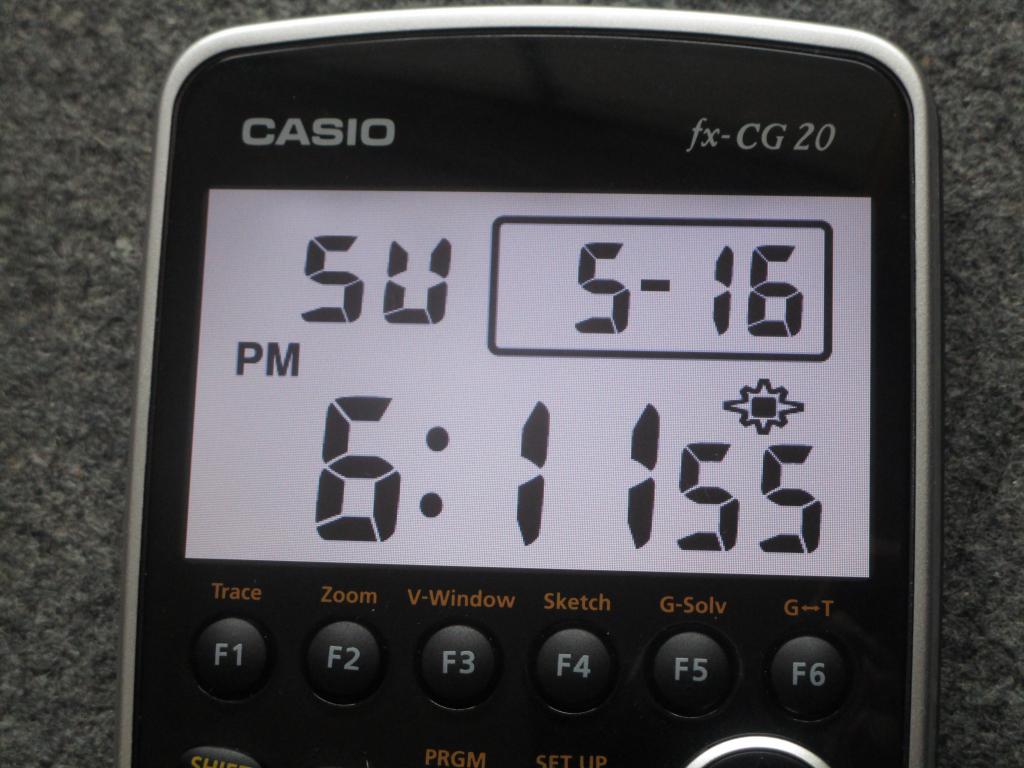 Casio fx-CG20 + G-Clock