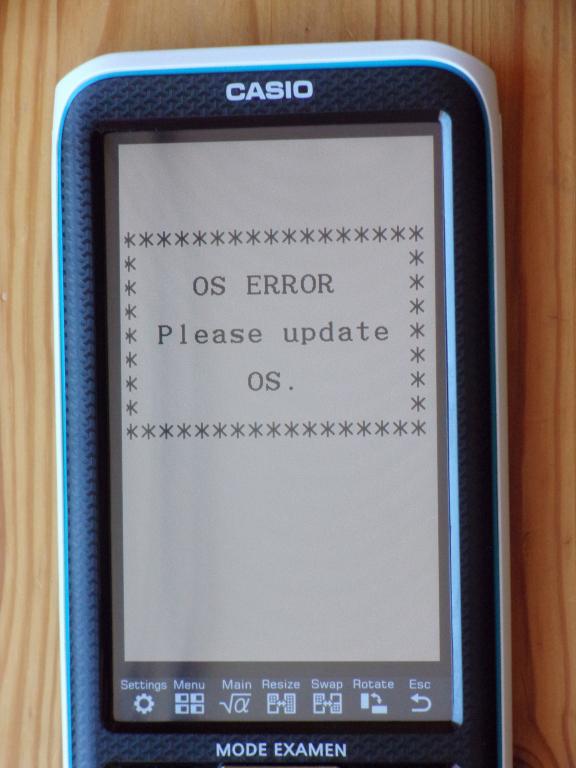 fx-CP400 : OS ERROR