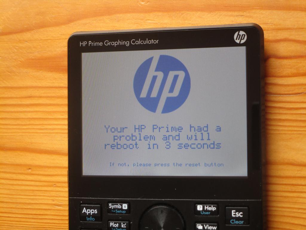 HP Prime + écran bleu