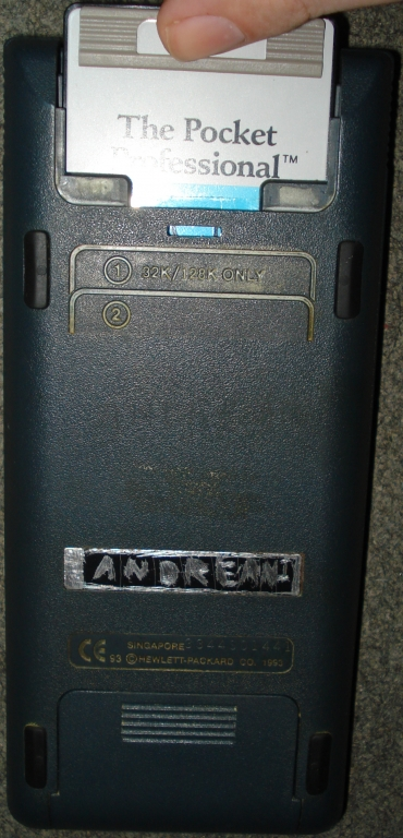 HP-48GX + Spice48 ROM card
