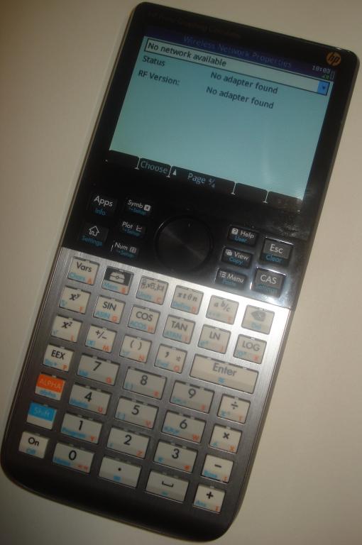 HP-Prime setup screen