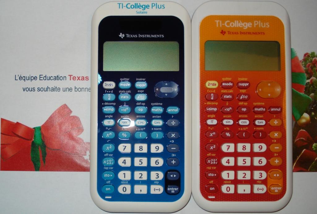 Comparaisons TI-Collège Plus