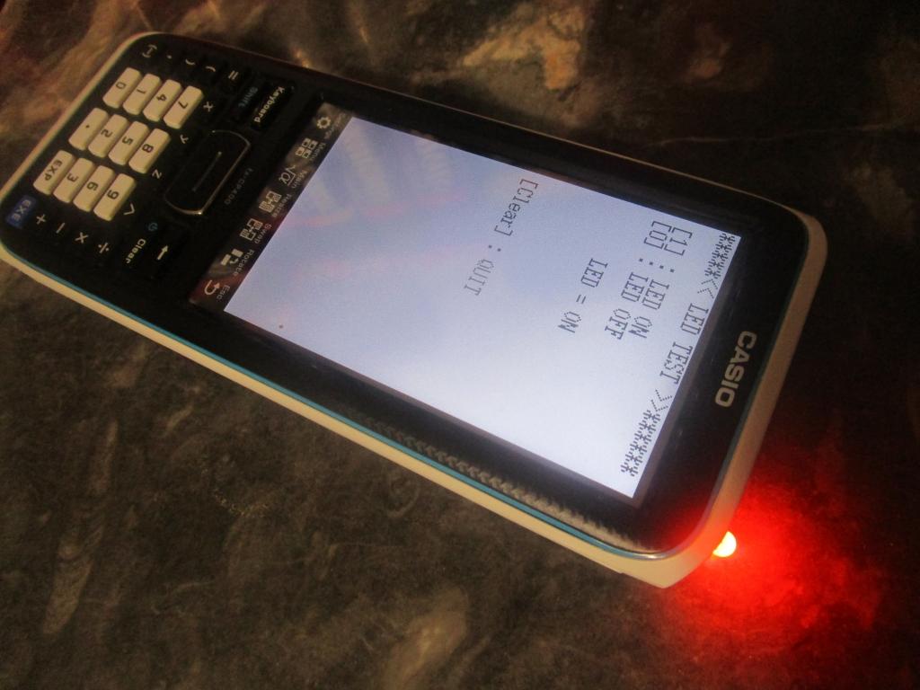 Casio fx-CP400 + LED exam