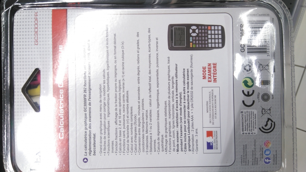 Calculatrice Lexibook GC3000FR