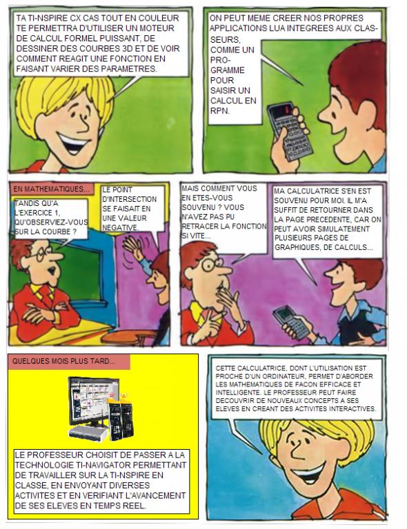 CalcCartoon: TI-Nspire CX CAS