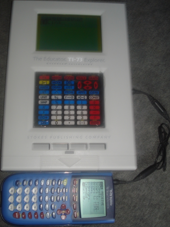 The Educator TI-73 overhead