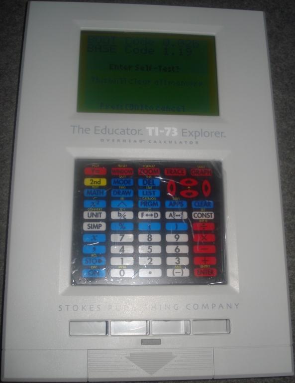 The Educator TI-83 Plus overhead