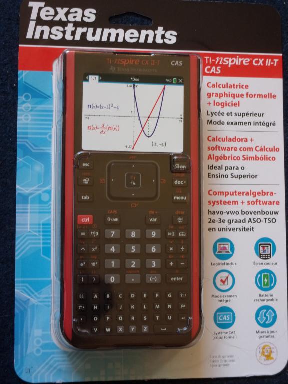TI-Nspire CX II-T CAS blister C