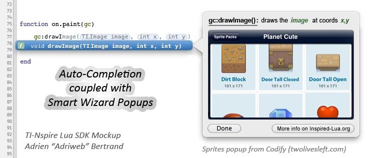 TI-Nspire Lua SDK Mockup - Insertion d'une image