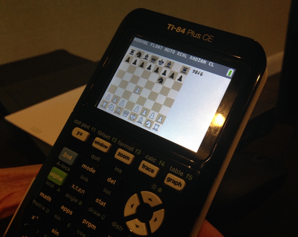 Chess game... on a TI-84 Plus CE