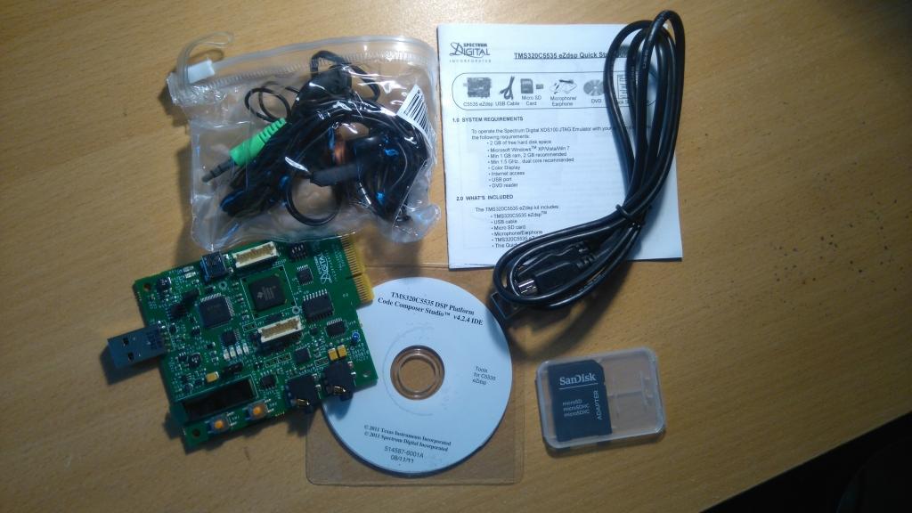 TMS320C5535 eZdsp (contenu)