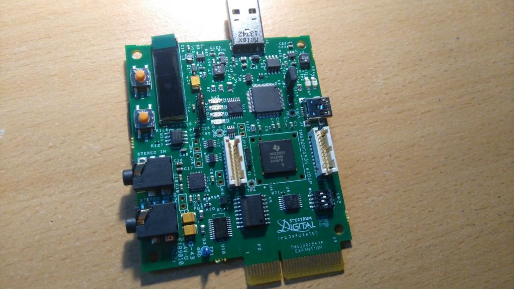 TMS320C5535 eZdsp (détail carte)