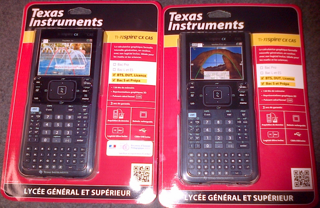 Emballages TI-Nspire CX CAS