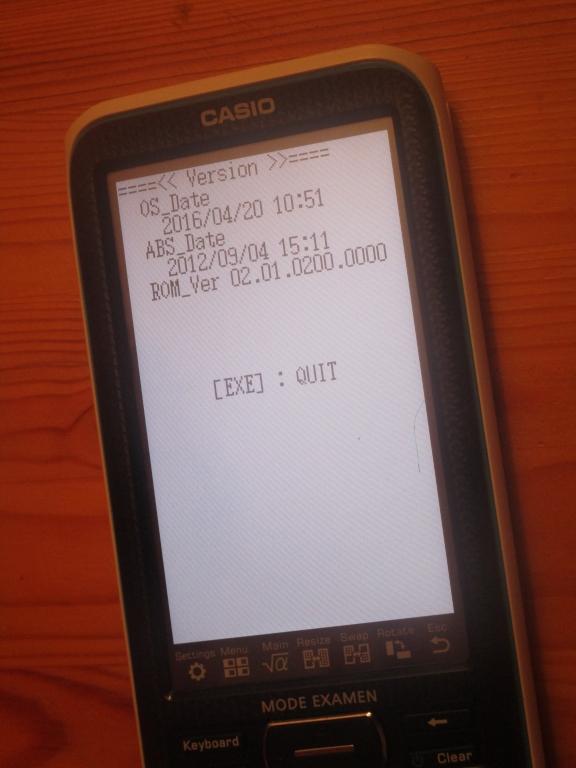 Casio fx-CP400+E - diagnostics