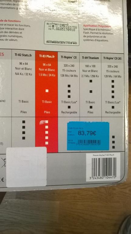 TI-83 plus.fr (USB) prix