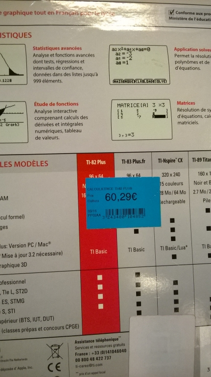 TI-82 plus (prix)