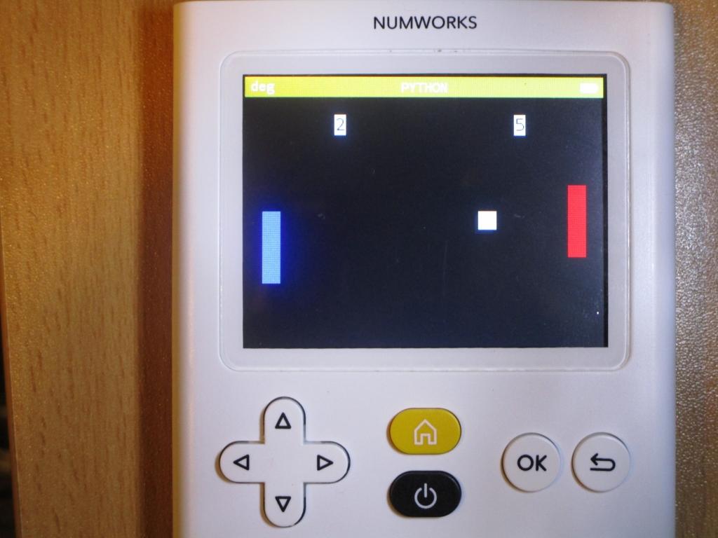NumWorks + PONG
