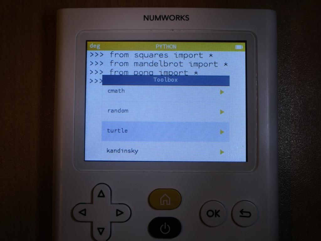 NumWorks + module Turtle