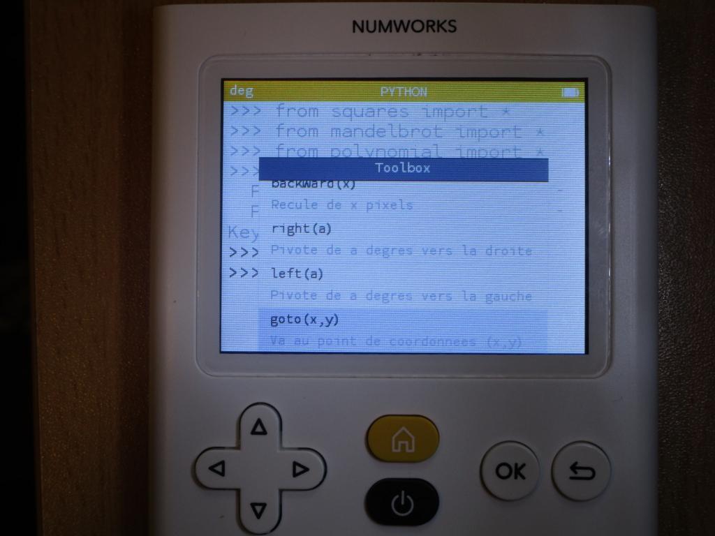 NumWorks + turtle