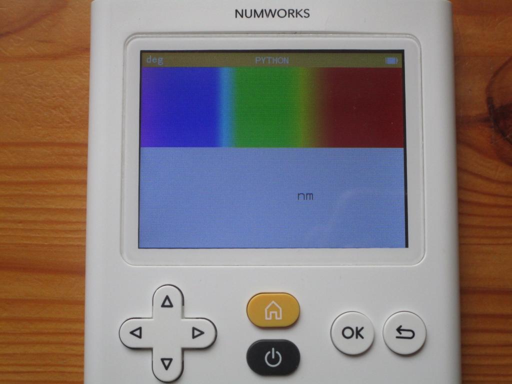 NumWorks + visible spectrum