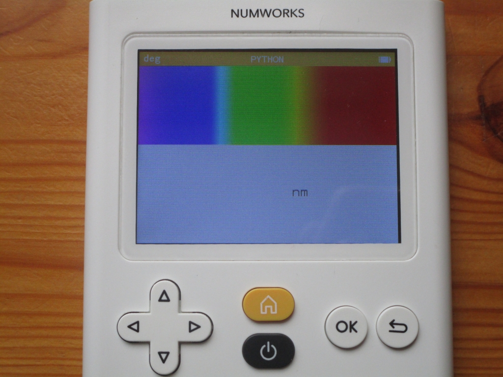 NumWorks + visible spectrum