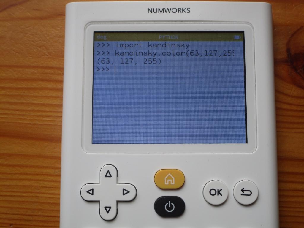 NumWorks v11.0 kandinsky.color()