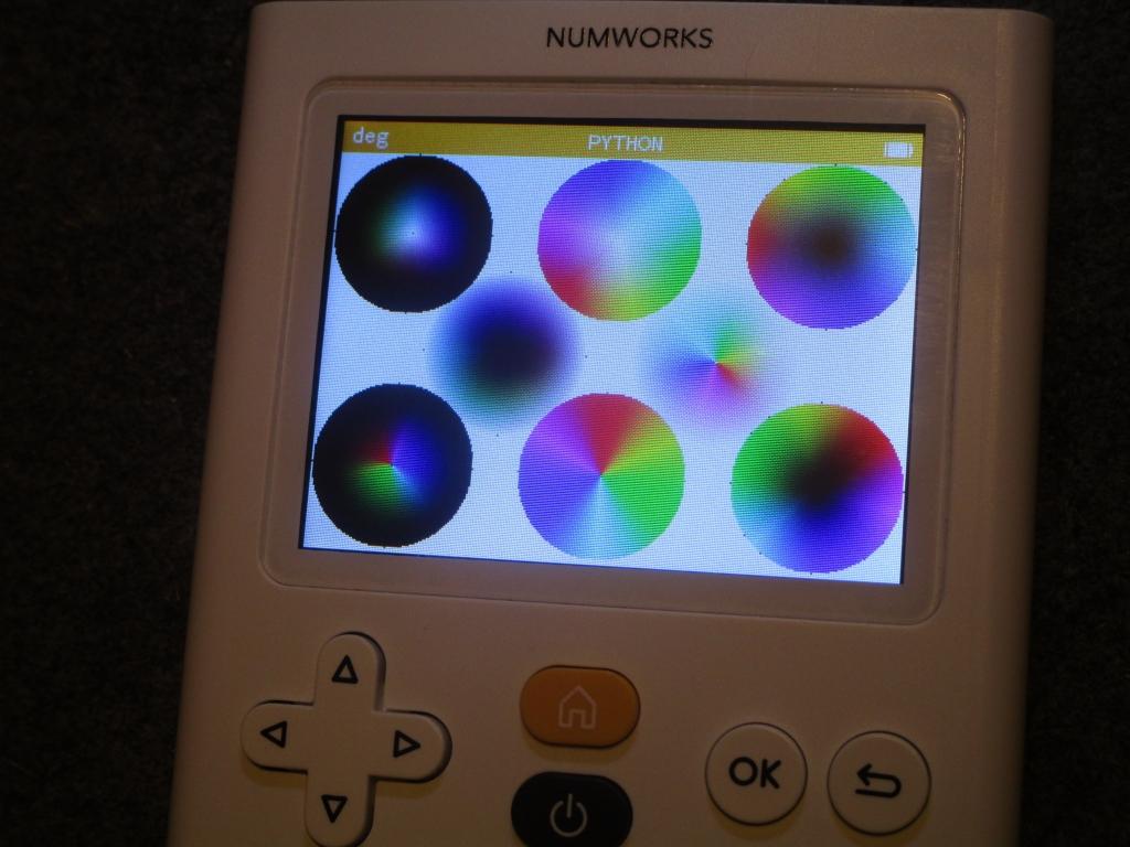 NumWorks + disques chromatiques