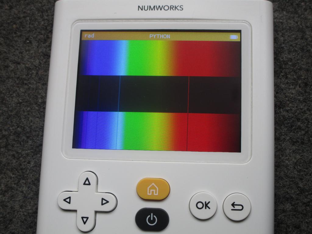 NumWorks + spectre Hydrogène