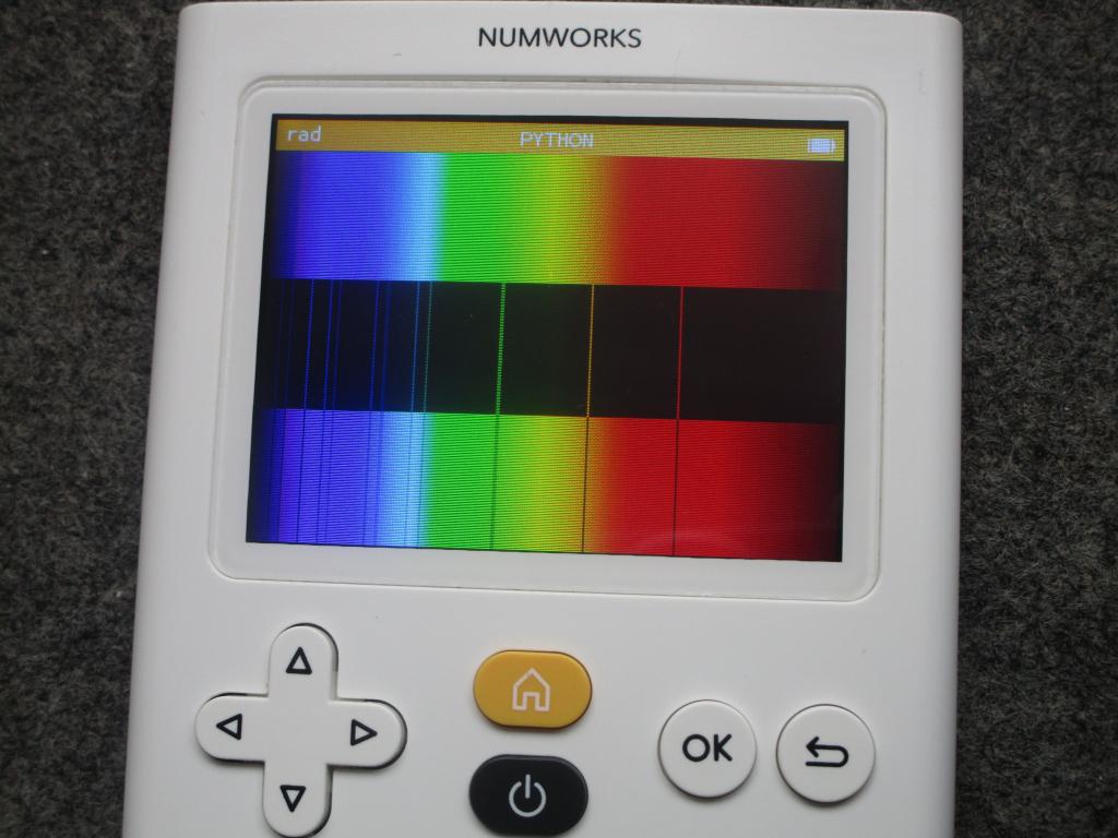 NumWorks + spectre Lithium