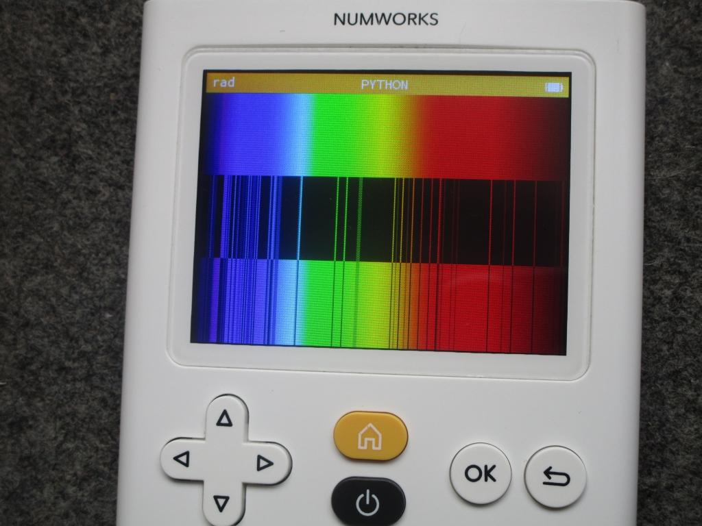 NumWorks + spectre Oxygène