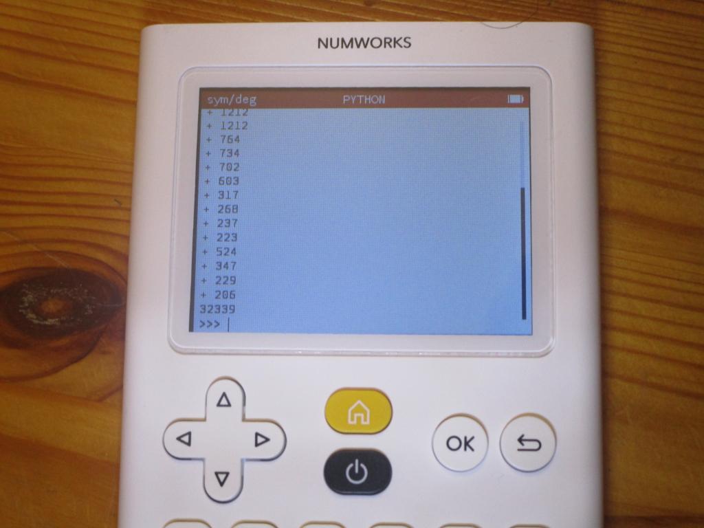NumWorks Omega 1.19 + mem