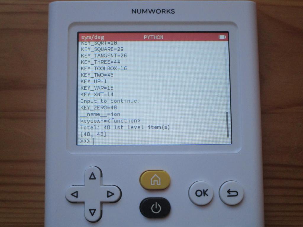 NumWorks + Omega 1.19 : ion