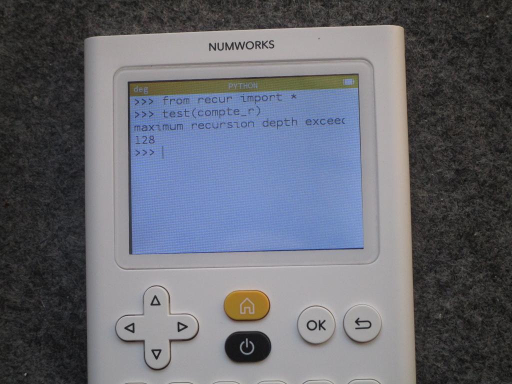 NumWorks : test stack QCC 2020