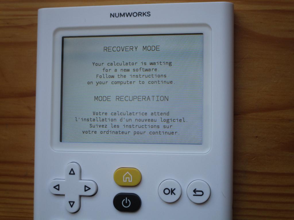 NumWorks récupération
