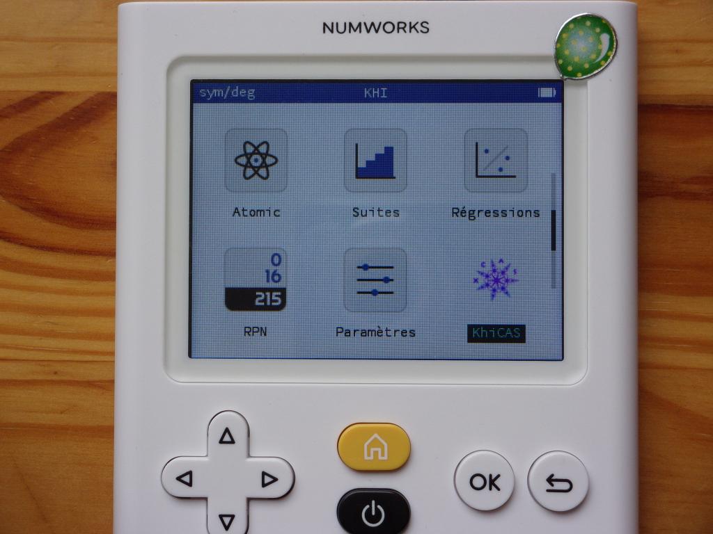 NumWorks + firmware Khi