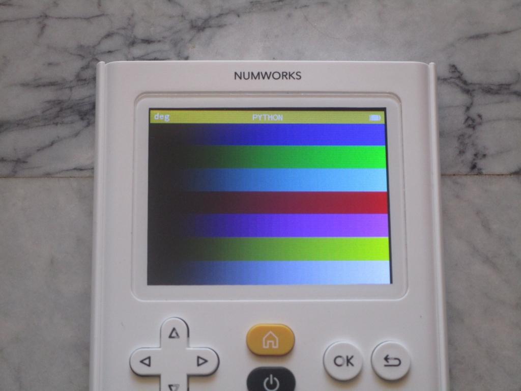 NumWorks + mire RGB 565