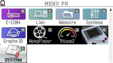 Main Menu 2 on FX-CG20 OS3.10