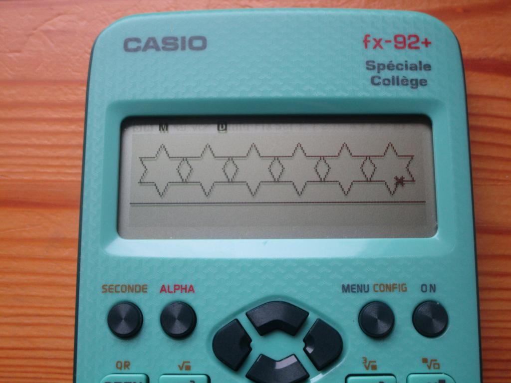 Casio fx-92+SC + guirlande Noël
