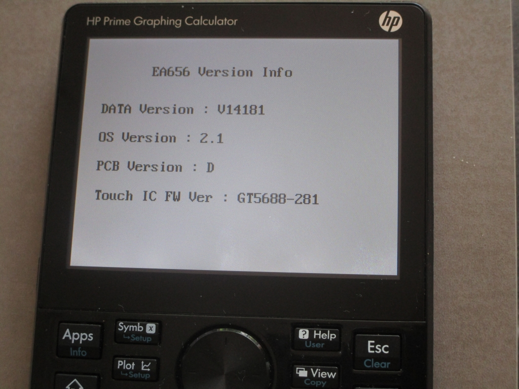 HP Prime G2 diagnostic