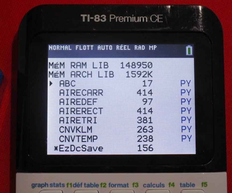 scripts TI-83 Premium CE Python