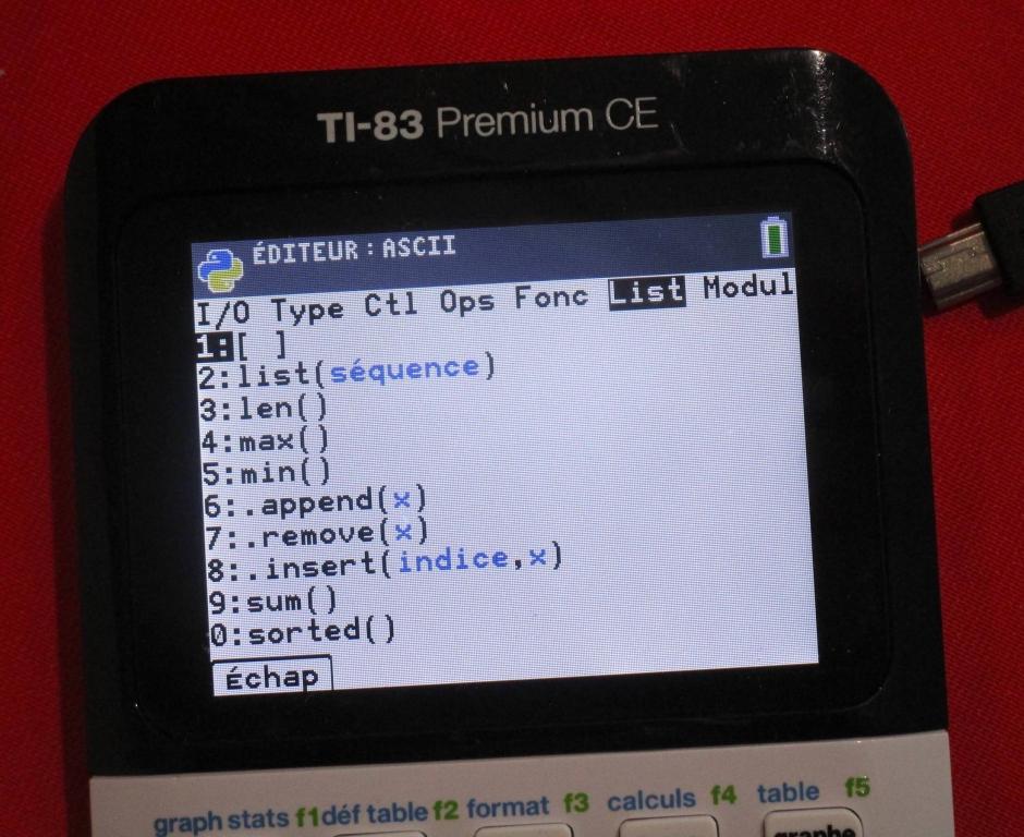menu List 83 Premium CE Python
