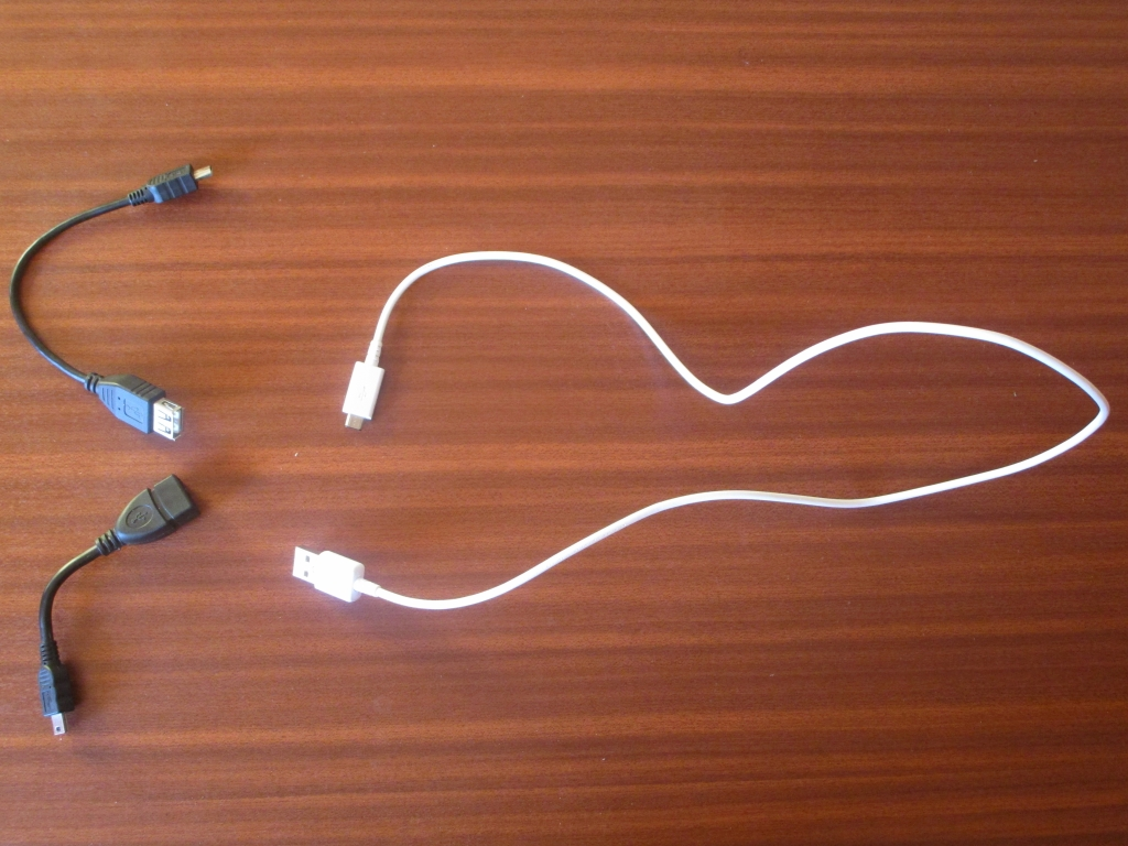 Adaptat. mini-USB m<->USB(A)f