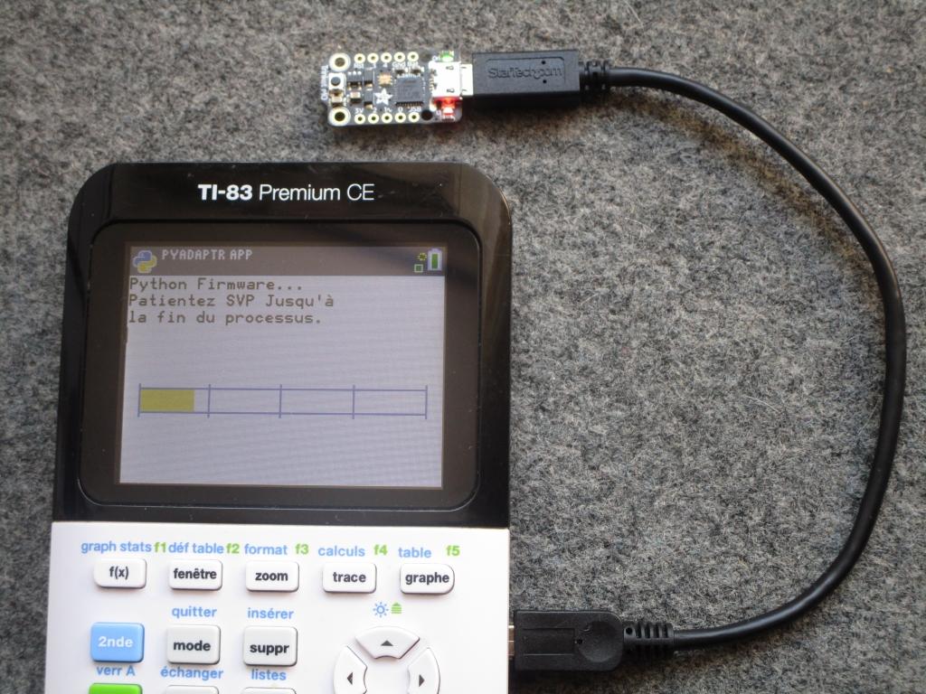 TI-83PCE + Trinket M0 update