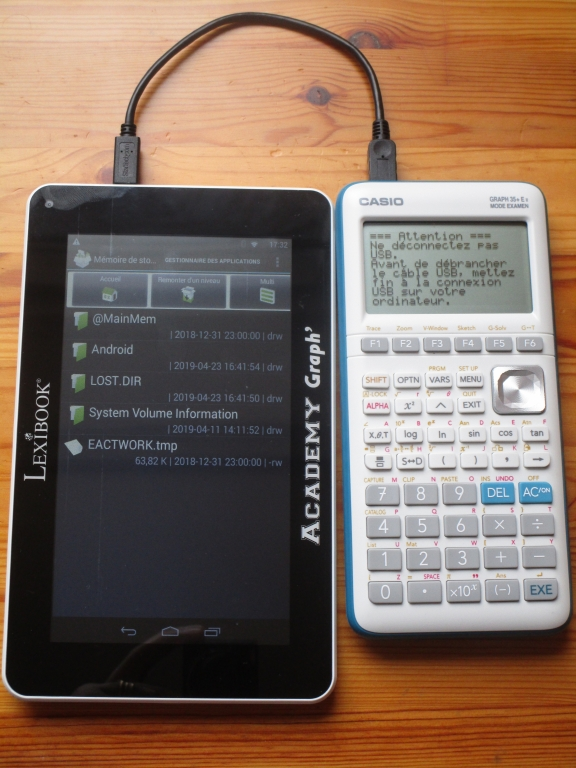 Casio Graph 35+E II + tablette